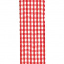 Vichy Karoband, width 40 mm, length 25 m, red-whit